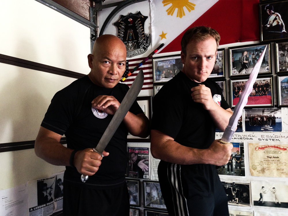 Guro Jerome Teague (R) with Master Virgil Orleans Cavada (L)