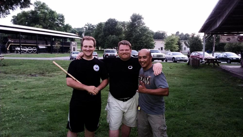 Guro Jerome Teague (Applied Eskrima), Guro Mike Castro (Eskrido), Guro Ellman Cabotage (Taboada Cuentada Balintawak)