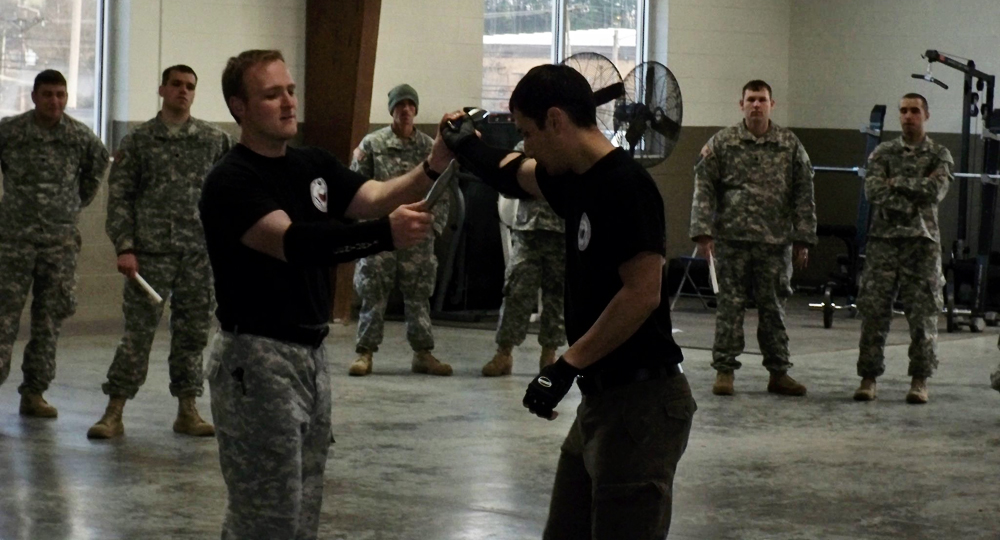 Guro Jerome sharing his knife curriculum with the Armed Forces