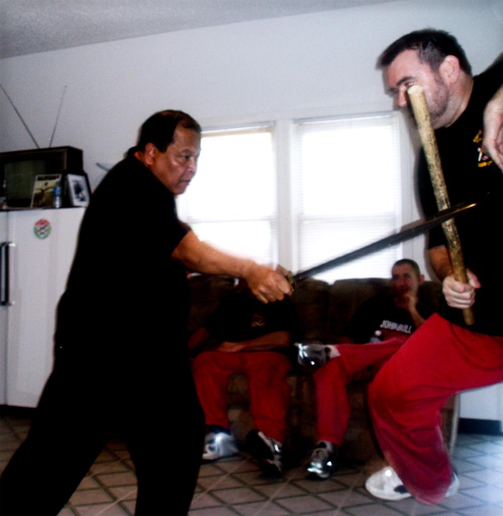 Grand Master Taboada feeding Guro Dicker