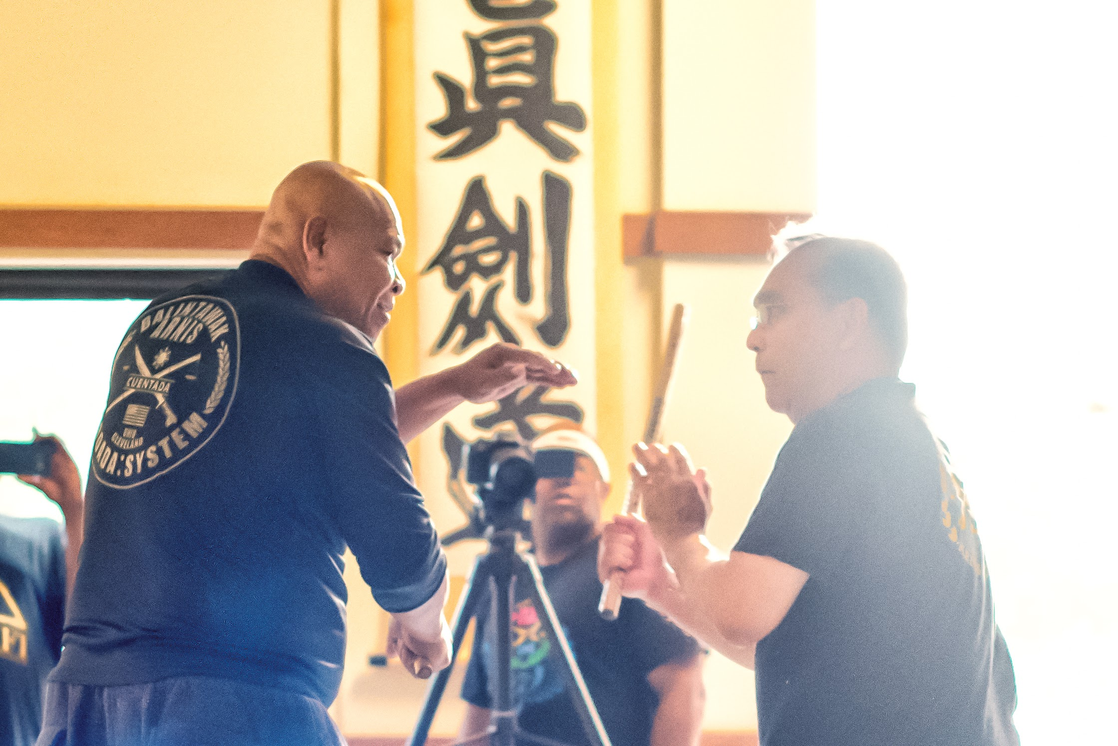 GM Taboada instructing with his student, FQI Jemar Carcellar, in Atlanta GA 6.18.2016
