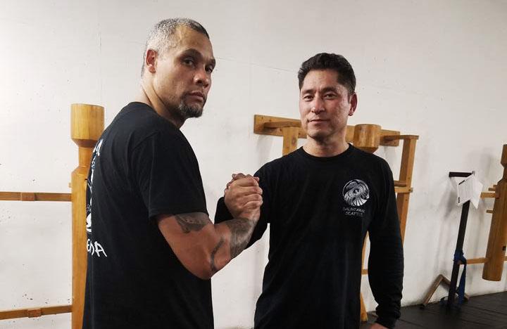 Guro Azeem McDaniel with his Balintawak teacher, Guro John Soriano