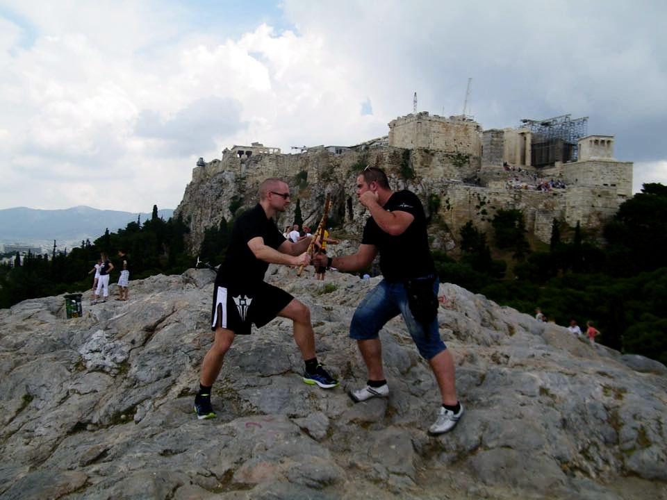 Phillip Wolf and Christos Koutsotasios at the Acropolis
