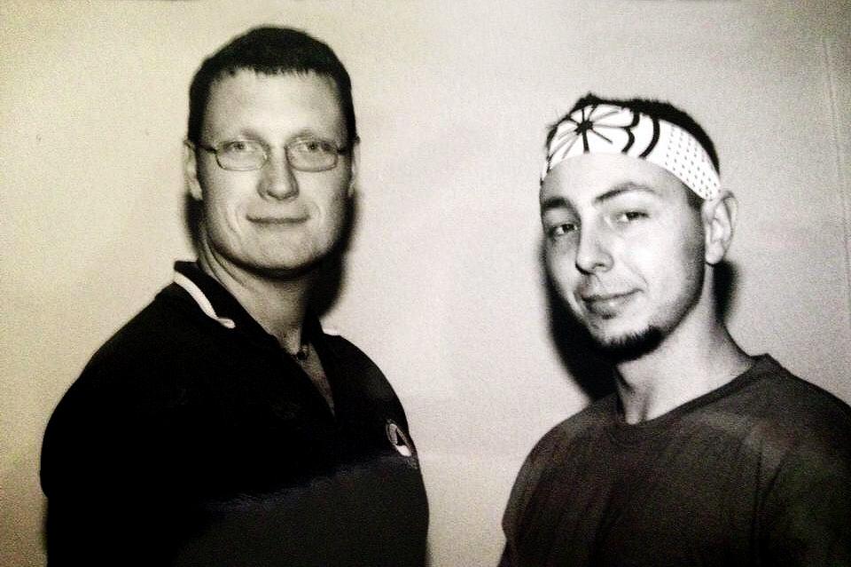 Guro Louis Grady with future Guro Alex Ormaza