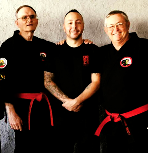 (L) Hanshi Tom Muncy, (C) Alex Ormaza, (R)Hanshi Rick Moneymaker