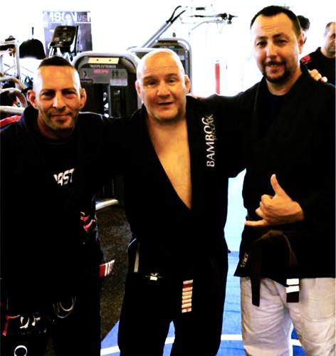 """(L) Paulo """"Mushu"""" Elsimaani, (C) Carlson Gracie Jr., (R) Alex Ormaza"""