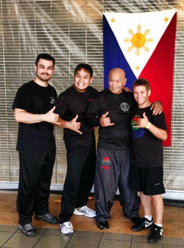 (From Left to Right) Guro Ernie Lake (FCS), Guro Michael Malanyon, GM Taboada, Guro Adam Greenspan