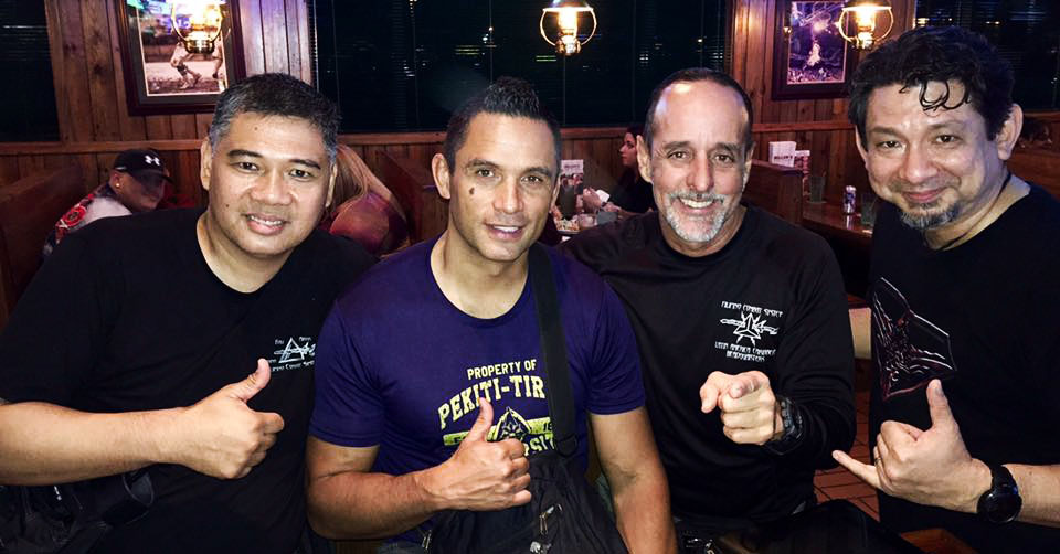 Tuhon Ray Dionaldo (FCS Kali), Tuhon Jared Wihongi (PTK), Lakan Guro (FCS Ranking) Carlos Lopez, and Kuya Doug Marcaida (Marcaida Kali)