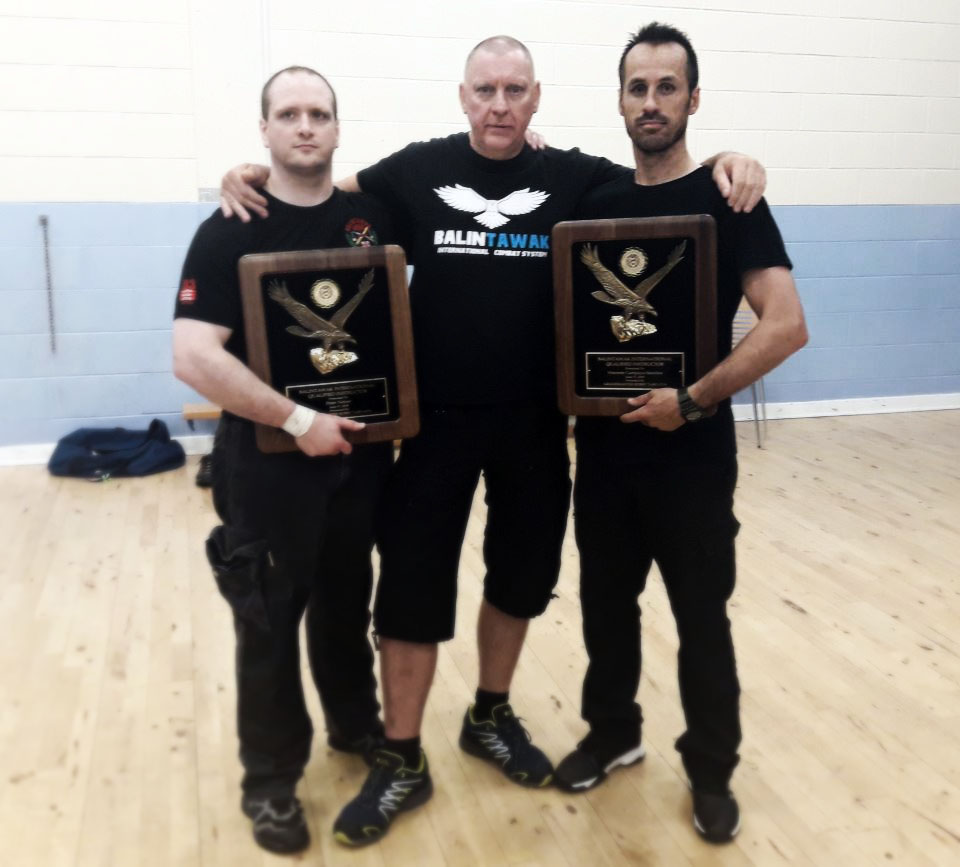 (L to R) Newly minted FQI Peter Netzer, Chief Instructor Richard Cotterill, and a newly minted FQI Vicente Sanchez