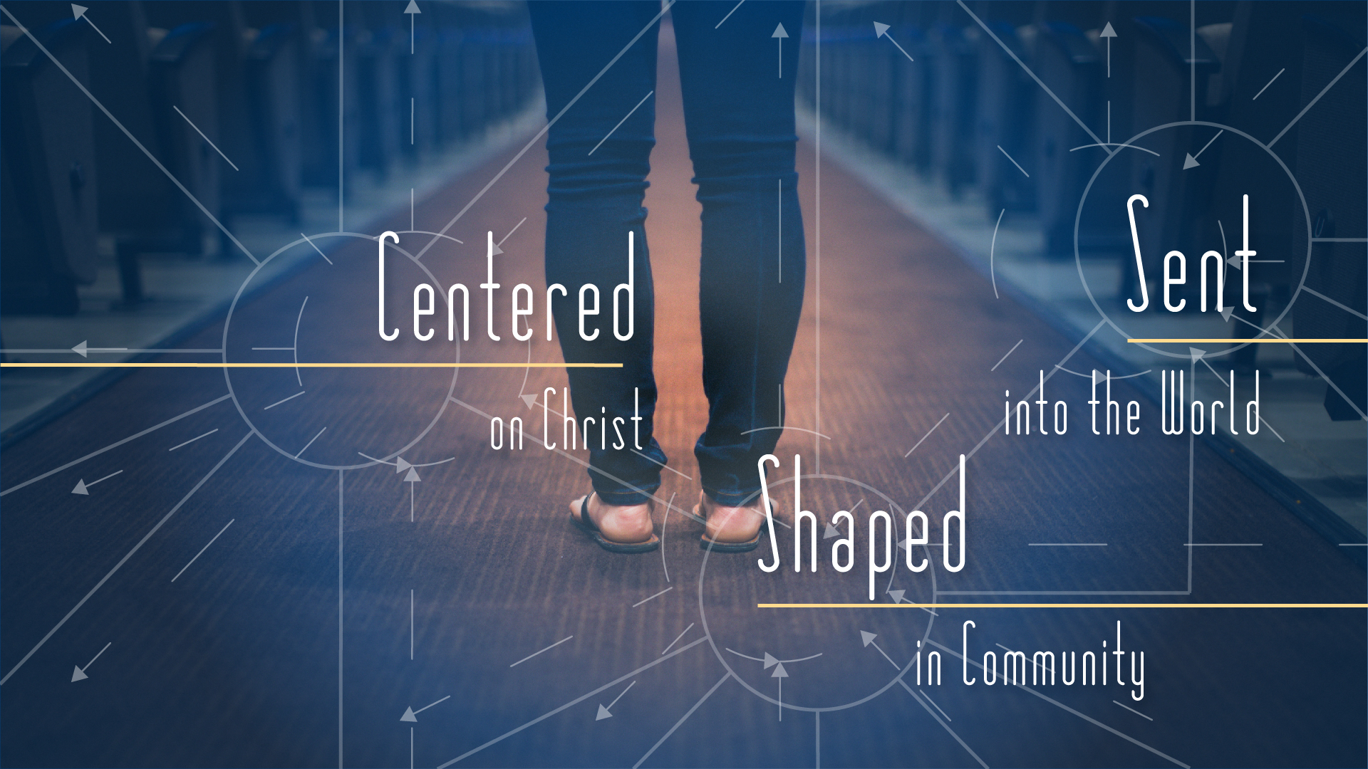 Centered/Shaped/Sent sermon graphic