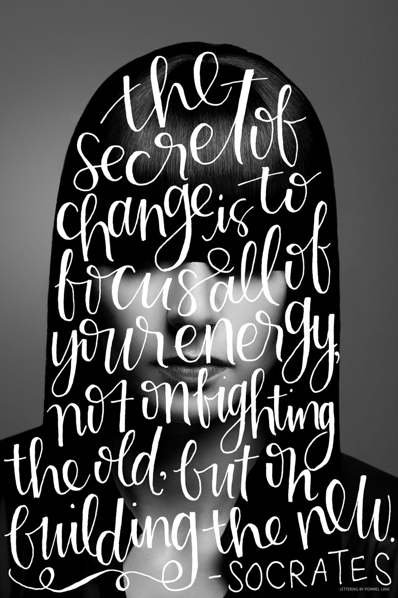 Silhouettes // 003 - A Lettering Series by Pommel Lane