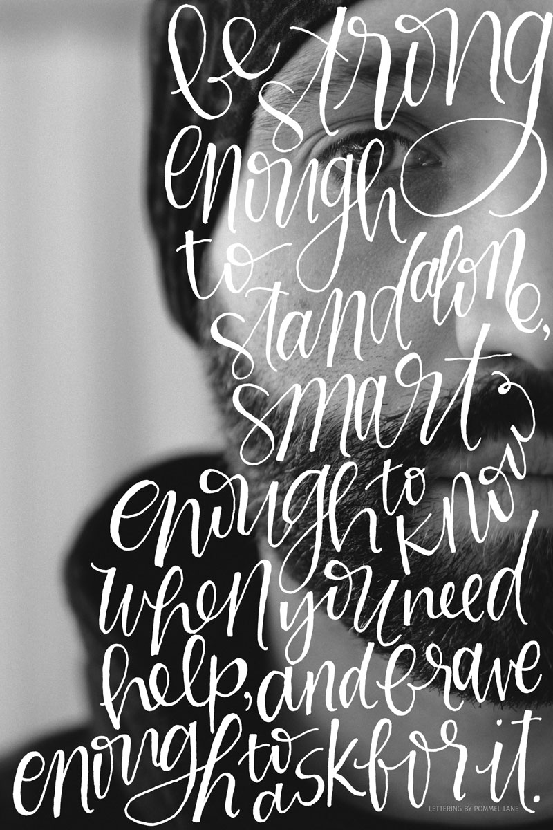 Silhouettes // 004 - A Lettering Series by Pommel Lane