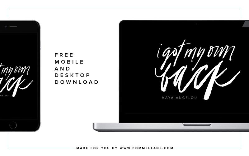 "Free Mobile & Desktop Background | ""I Got My Own Back"" | Pommel Lane"
