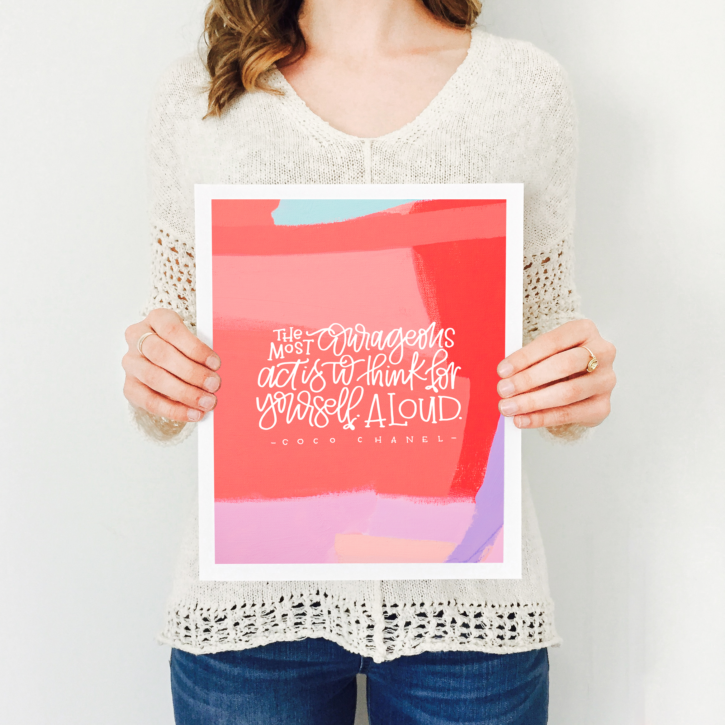 Women's History Month Project by Katherine Jury and Pommel Co.  |  Visit www.katherinejury.com to shop the collection!  #womenshistorymonth #cocochanel #print #quote