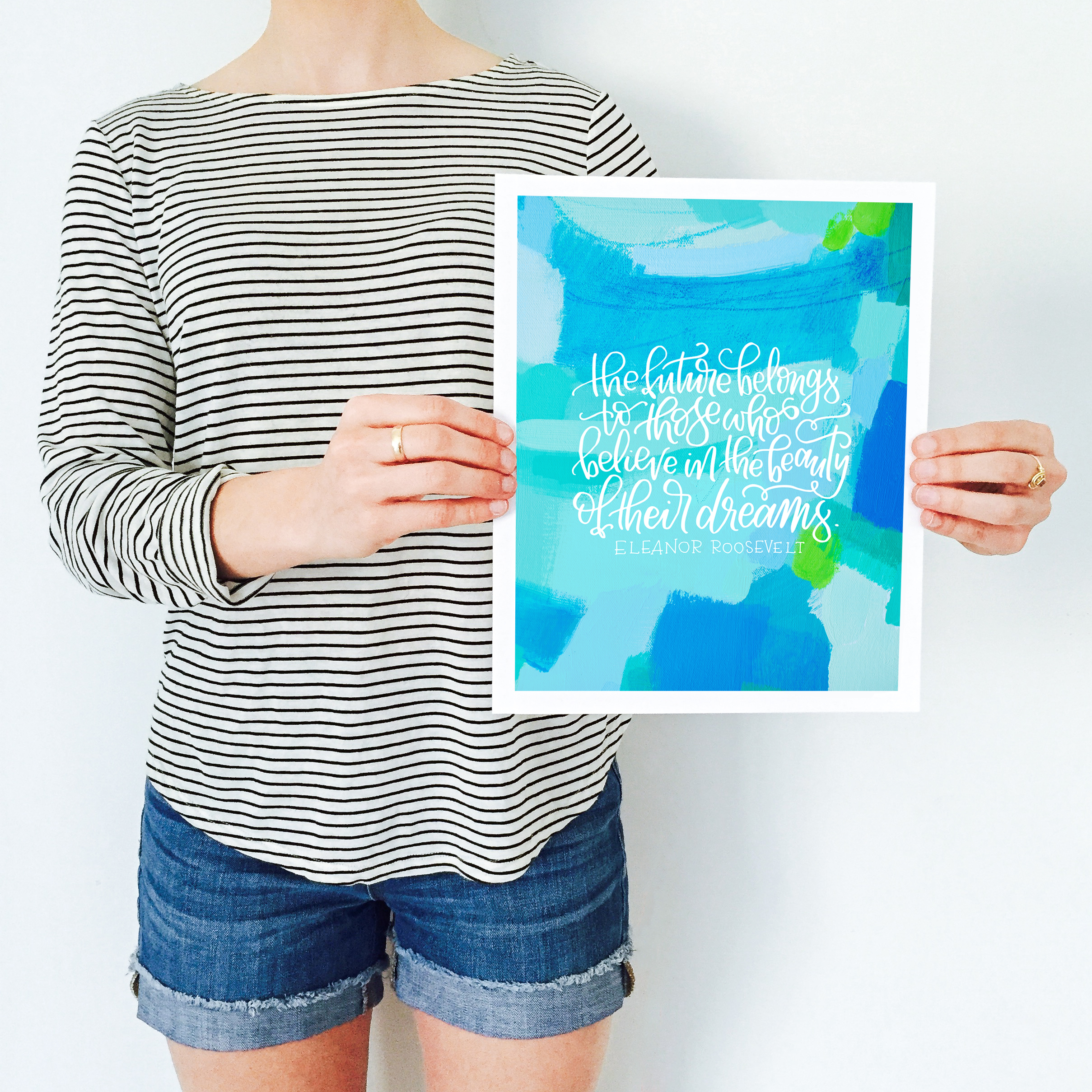 Women's History Month Project by Katherine Jury and Pommel Co.  |  Visit www.katherinejury.com to shop the collection!  #womenshistorymonth #eleanorroosevelt #quote #print