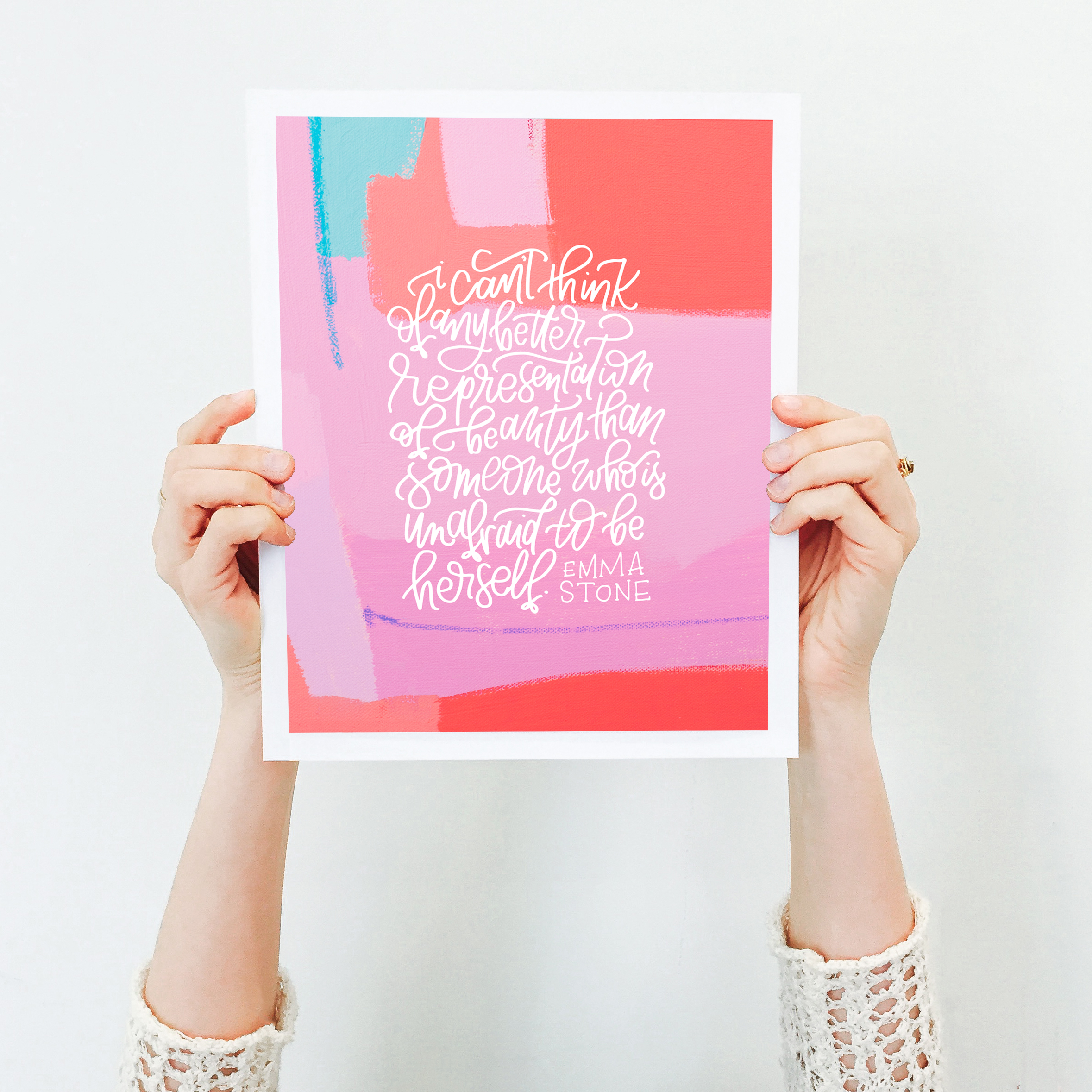 Women's History Month Project by Katherine Jury and Pommel Co.  |  Visit www.katherinejury.com to shop the collection!  #womenshistorymonth #emmastone #quote #print