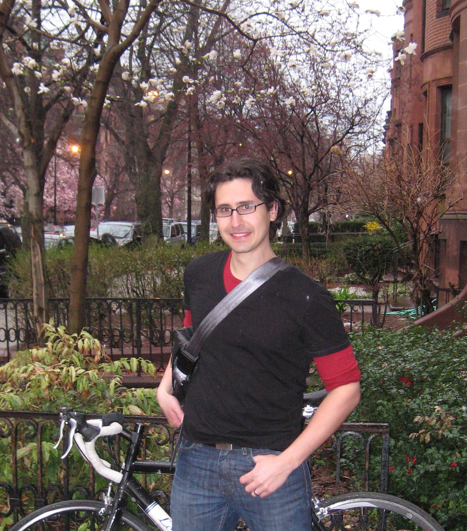 Adam Ragusea in Banana Republic T shirt and American Apparel thermal