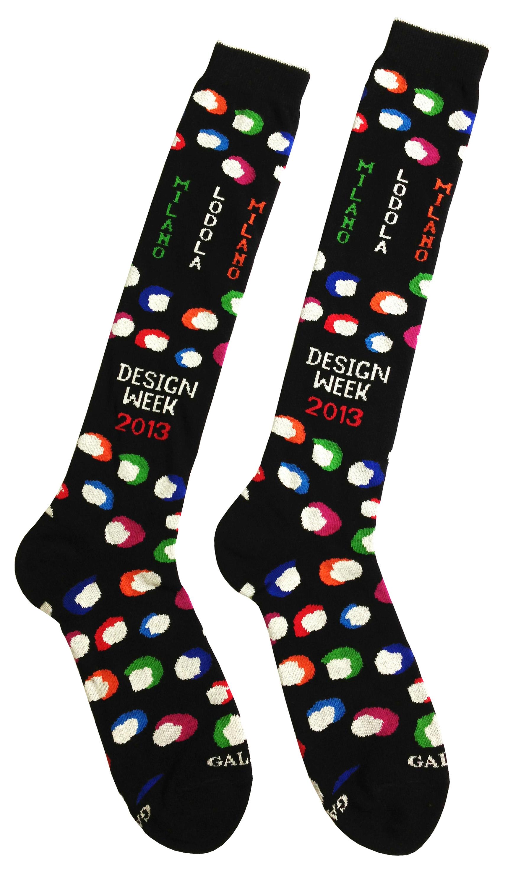 'Facce da Salone' socks, design Marco Lodola, by GALLO