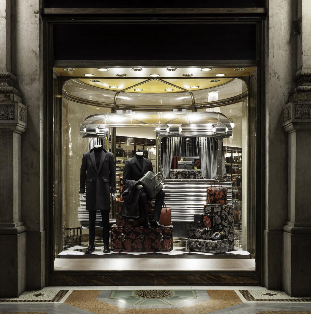 Prada men at Milan's Galleria Vittorio Emanuele