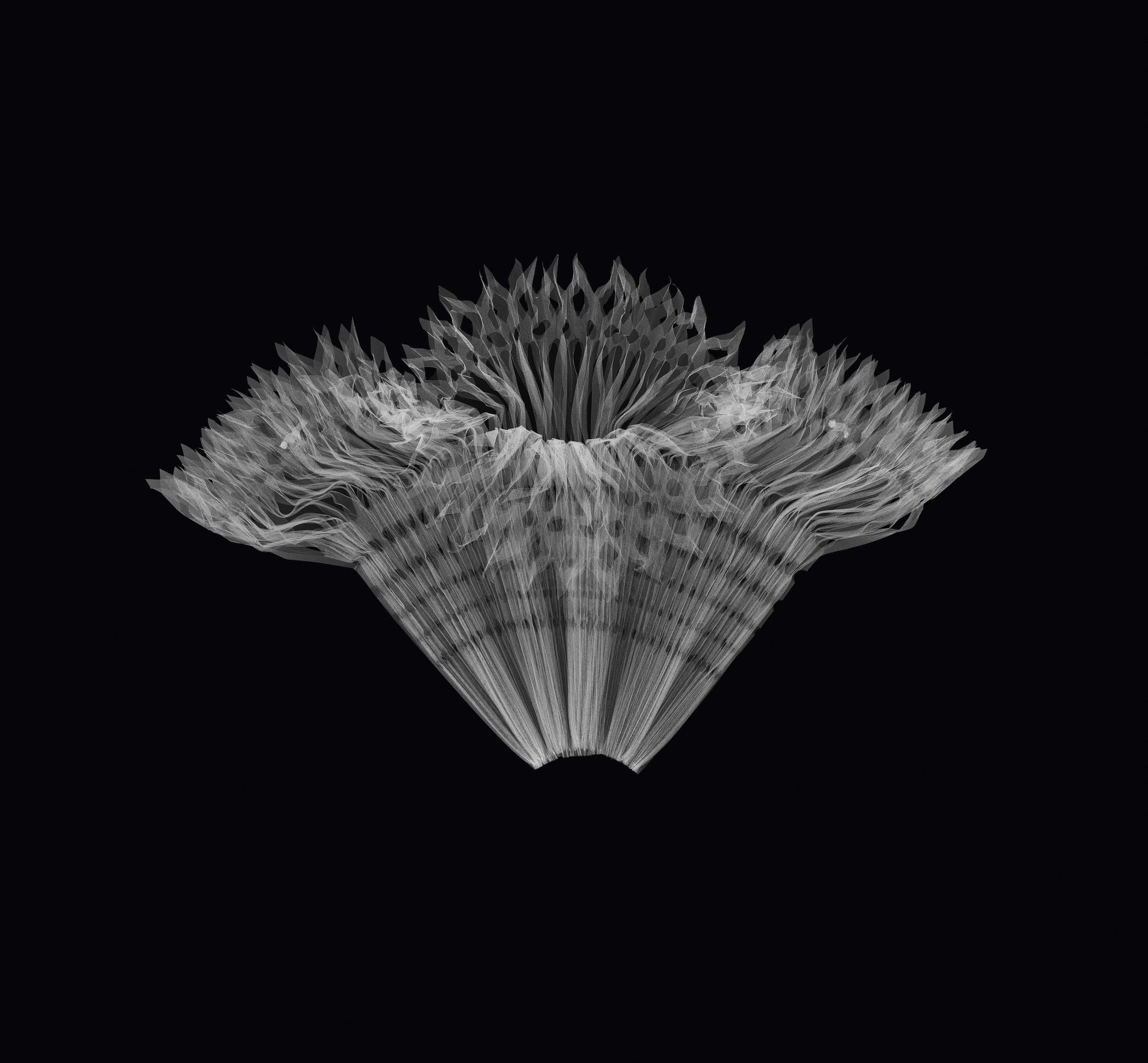 X-Ray simulation 'Origami' shirt, Gianfranco Ferré Spring/Summer 2004 collection (Photography Leonardo Salvini)