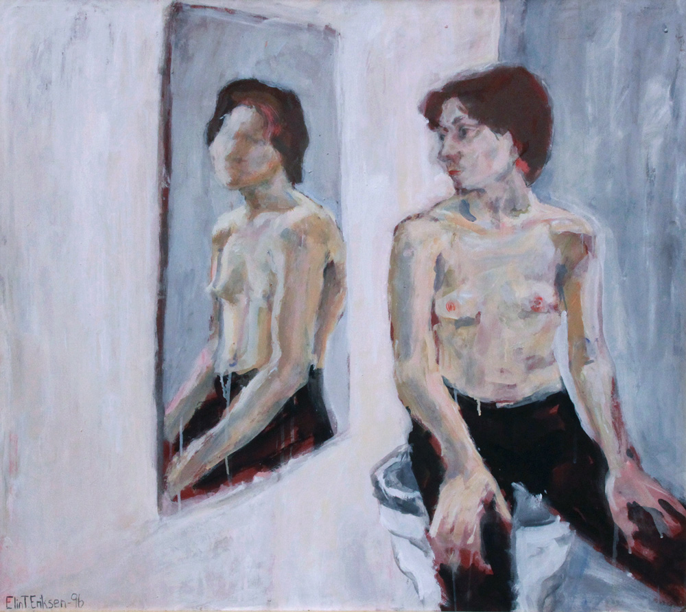 """Marika, mirror"" Acrylics on canvas 113x120cm"