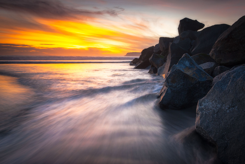 Sunset on Coronado Island, San Diego, California.