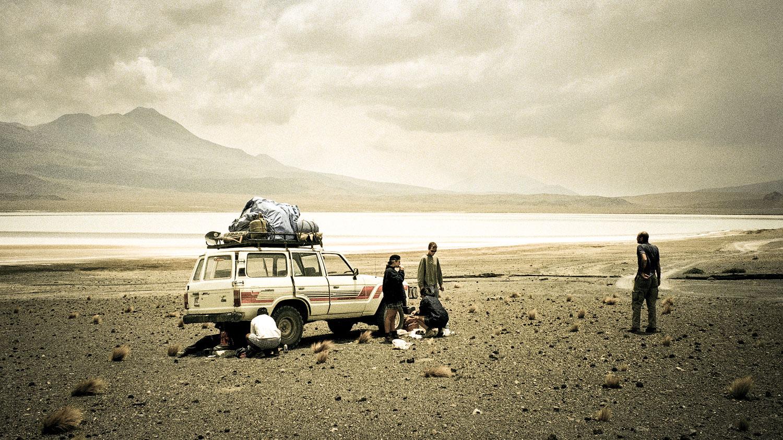 Broke down on the Salar de Uyuni, Bolivia. (1999)