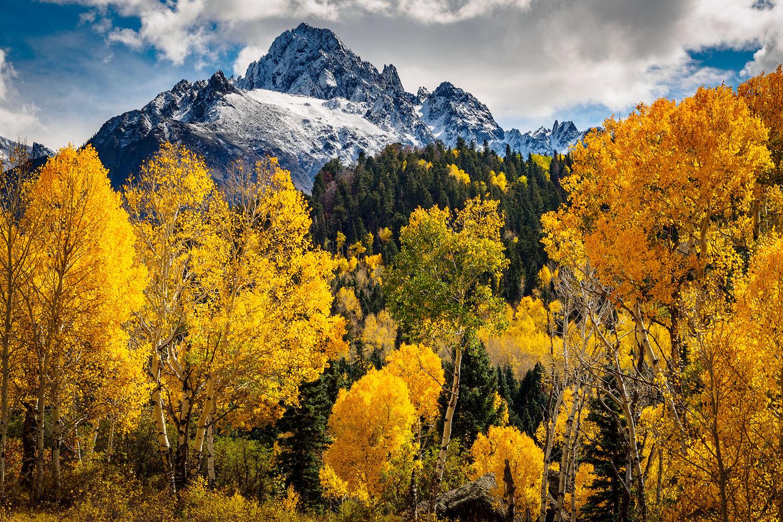 Fall in the San Juan Range, southwestern Colorado.