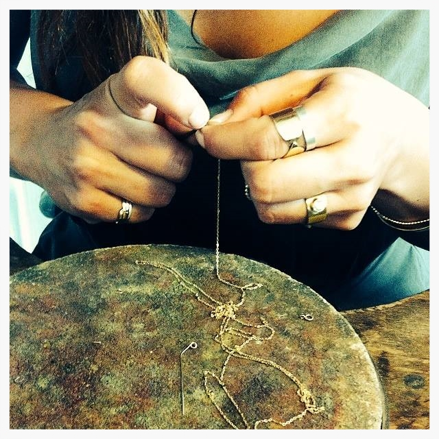Jewelry in the making - 18 carat gold