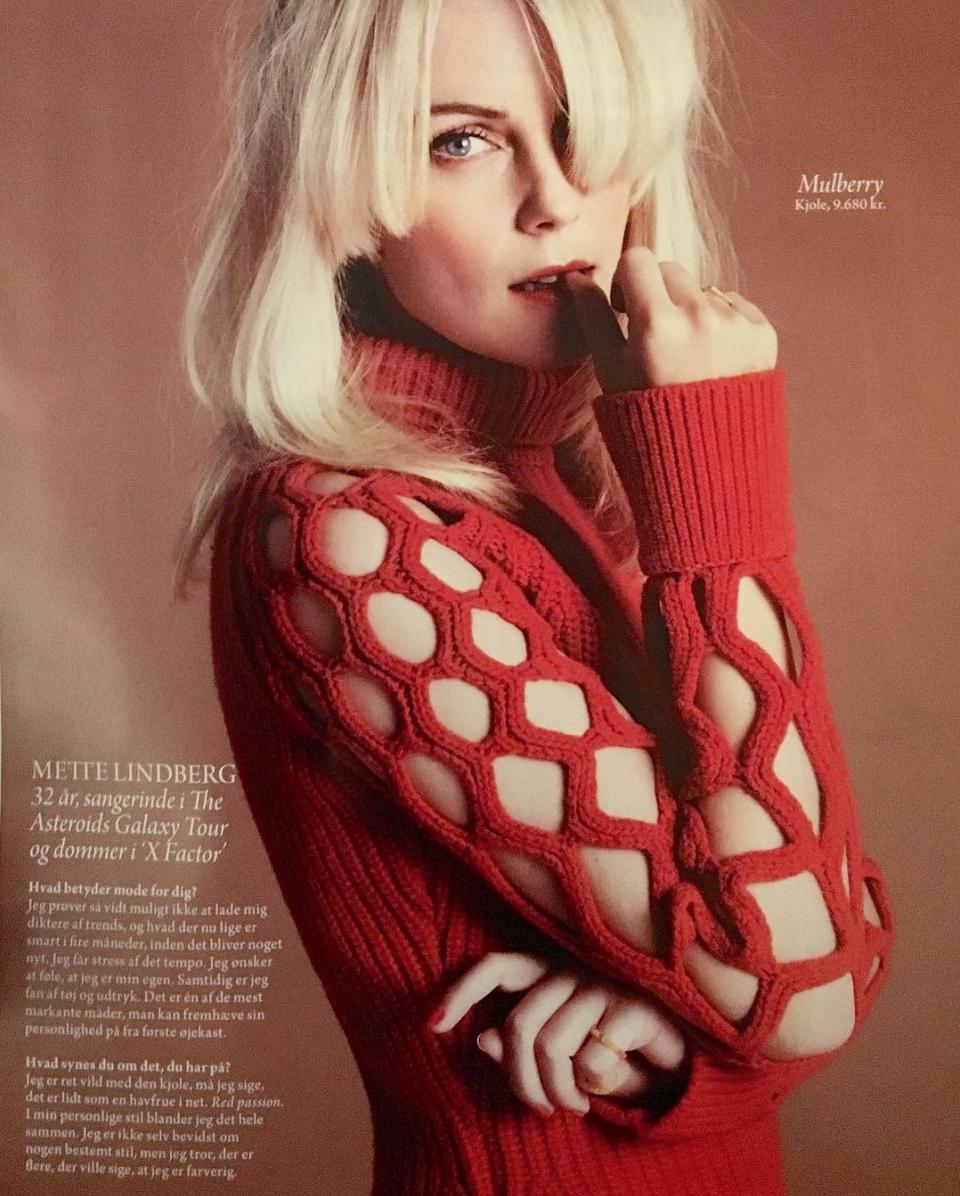 Mette Lindberg in Modemagasinet IN