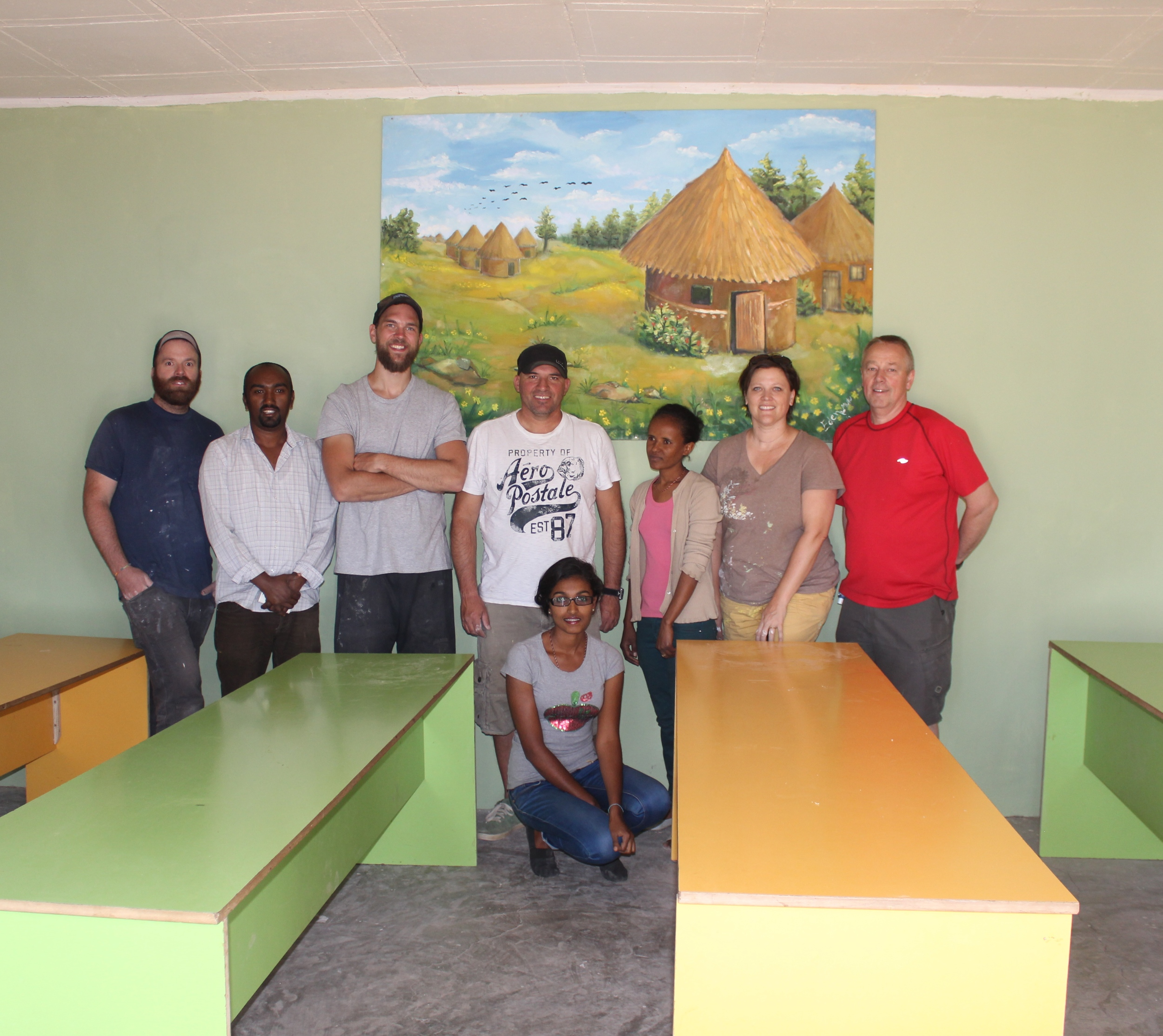 Last year's team refurbished and made repairs to the life centre at Kality, near Addis Ababa.