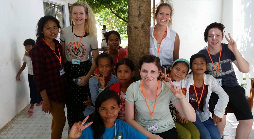 (R-L)Kamerin, Jenessa, Jaida and Kirsten (front) and their students at Place of Rescue.