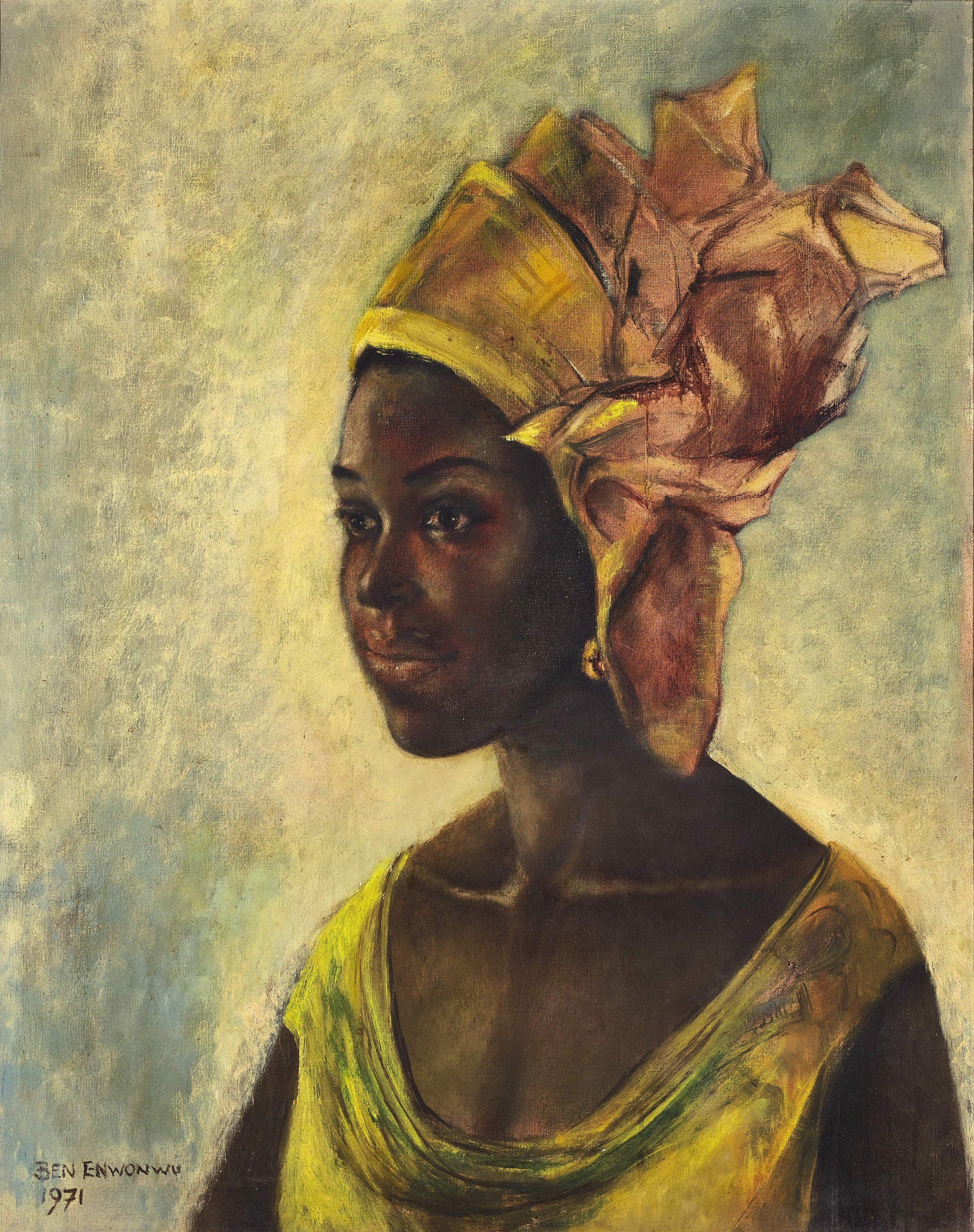 Ben Enwonwu,'s Christine, 1971.  Image courtesy of Sotheby's