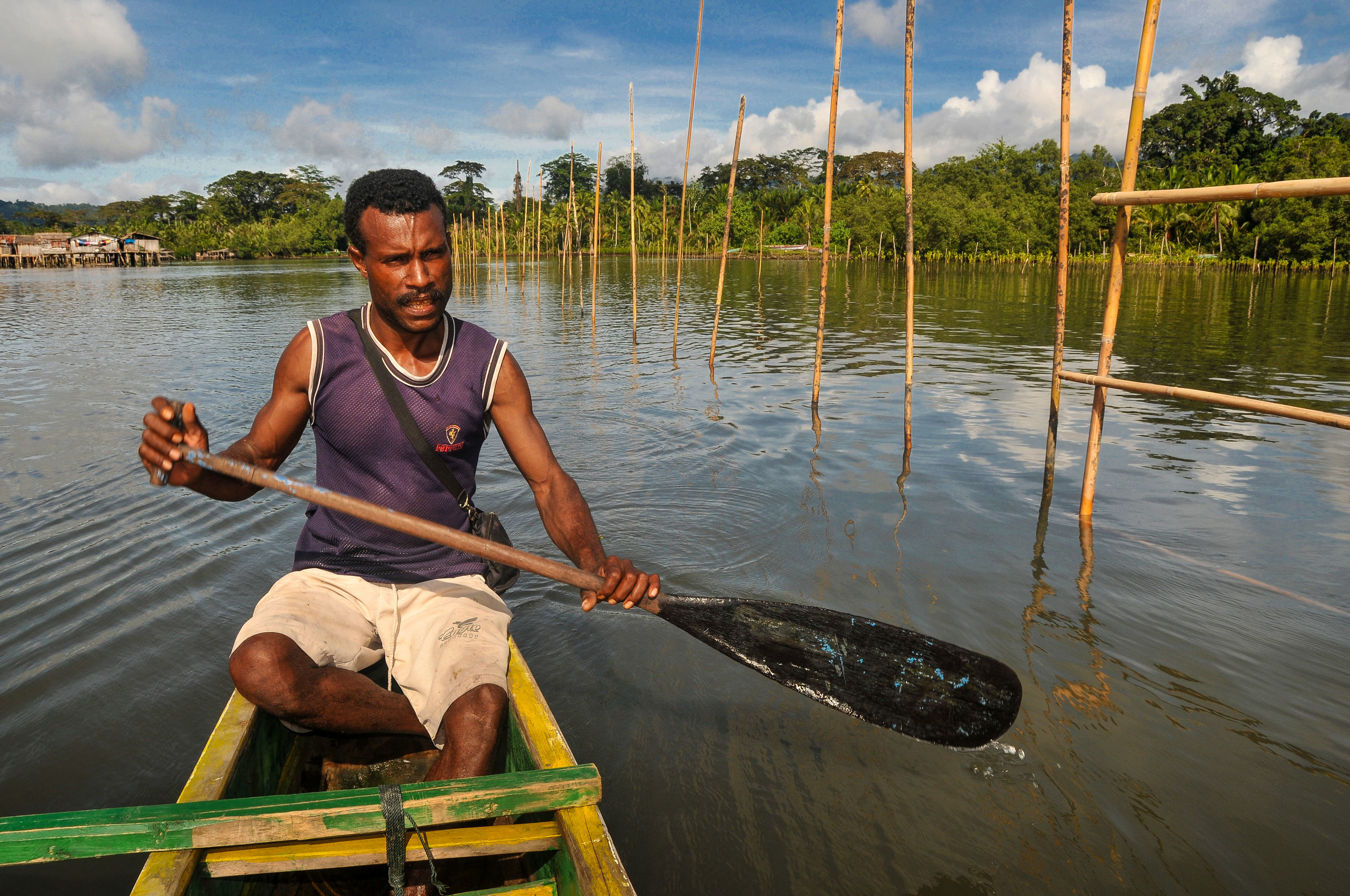 Paddling around a mangrove restoration area.