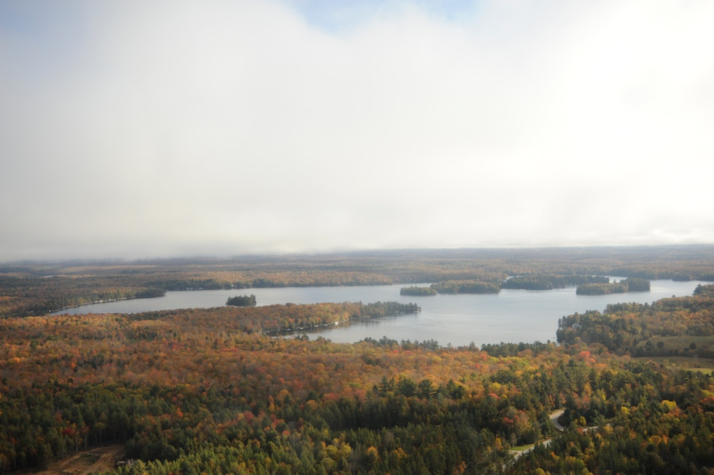 aerial view of Wood Lake