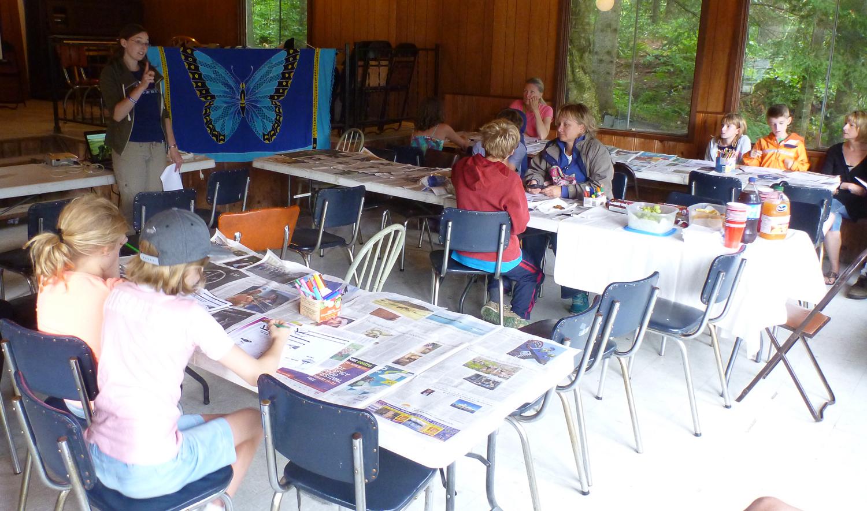 Monarch workshop in progress