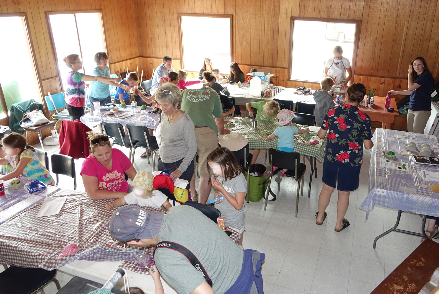 crowd at the craft workshop