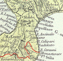 Visit our large map of Italy showing Mother Teresa's home town of Vito, Italy.
