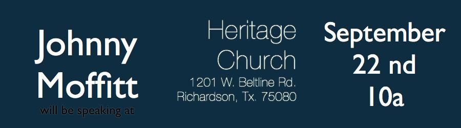 Join us Sunday at Heritage Church Dallas    (via  Johnny Moffitt will be at Heritage Church Dallas this Sunday )