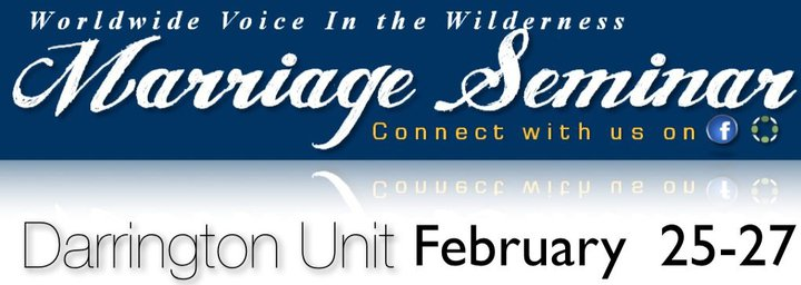 WVIW Marriage Seminar at the Darrington Unit  I am very excited about the next few months and what God will be doing through Worldwide Voice In the Wilderness. We will be attending the Darrington Unit and ministering for three days to twenty five or so men and their wives. This is a powerful time and we are glad you have made it possible for me and Betty to fufill Gods purpose in our lives on a daily basis. It is because of so many faithful supporters and prayer partners that we are able to go connect with these prisons and be God to these lovely couples.    I am asking you to prayerfully consider going with us to Darrington as WVIW Team Members to fully experience what God is doing in the prisons of Texas. If you can not join us on the weekend in person please remember us in Prayer. We will be in the prison Feb 25th-27th and really need your prayer for that weekend. It is a joyful time but there is much work to be done and we rely on your prayers to make it successfull.    Also, I would ask that if you are able to give financially to WVIW, you consider making a donation directly to the ministry of Marriage Seminars. This fund helps us not only make each weekend possible but allows us to be a blessing to several couples by being abl to go above and beyond in making this weekend special.   God Bless you and Thank you for all you do to support me and Betty, as well as Worldwide Voice In the Wilderness.   Johnny