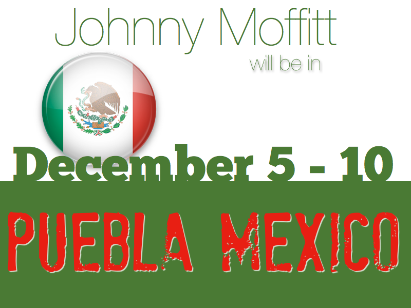 Johnny Moffitt will be in Mexico with Rebecca and Denzil Hood