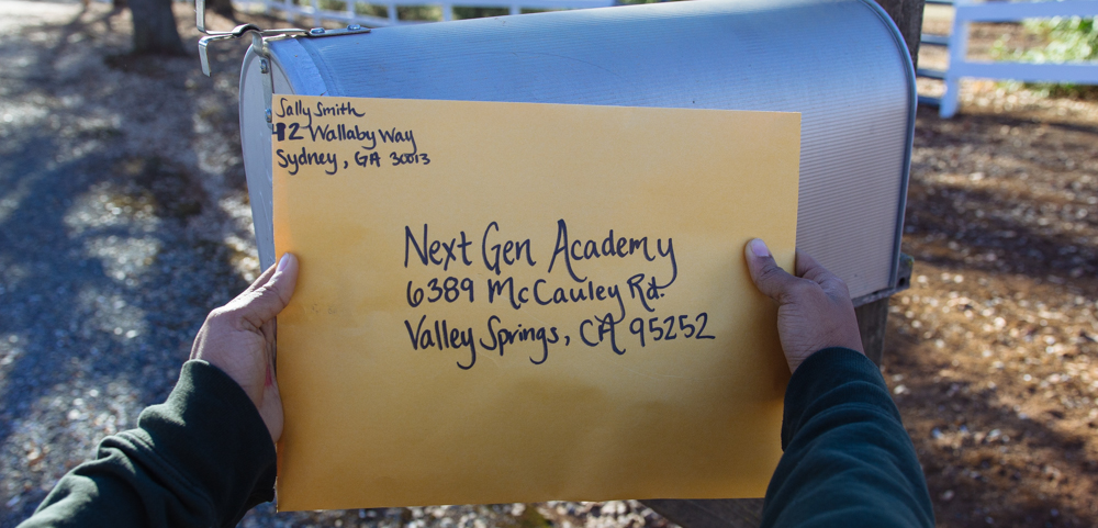 Step 3: Email it in!   With your completed application in hand, please scan and email it to us at nga.admissions@gmail.com so we can expedite your application process and ensure your application doesn't get lost. If you are unable to email it, you can mail a hardcopy to:  6389 McCauley Rd. Valley Springs, CA 95252  We will notify you when we have received your application, but will not be able to process it until it is complete.