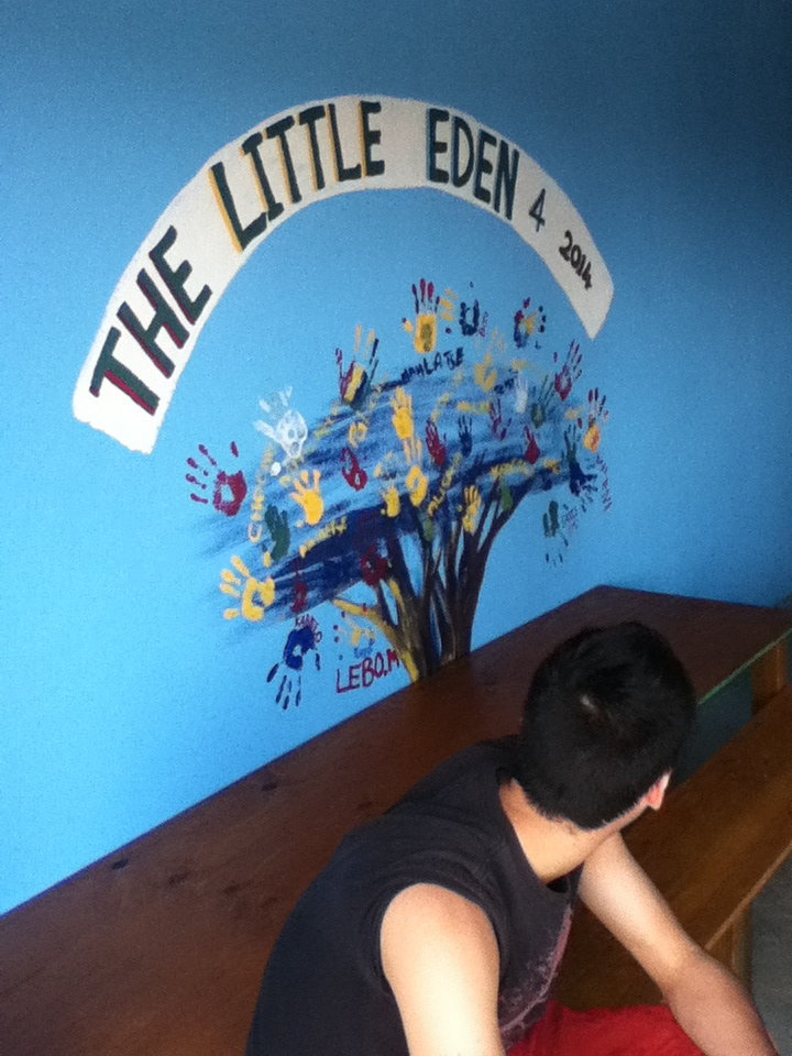 The tree we painted at the creche