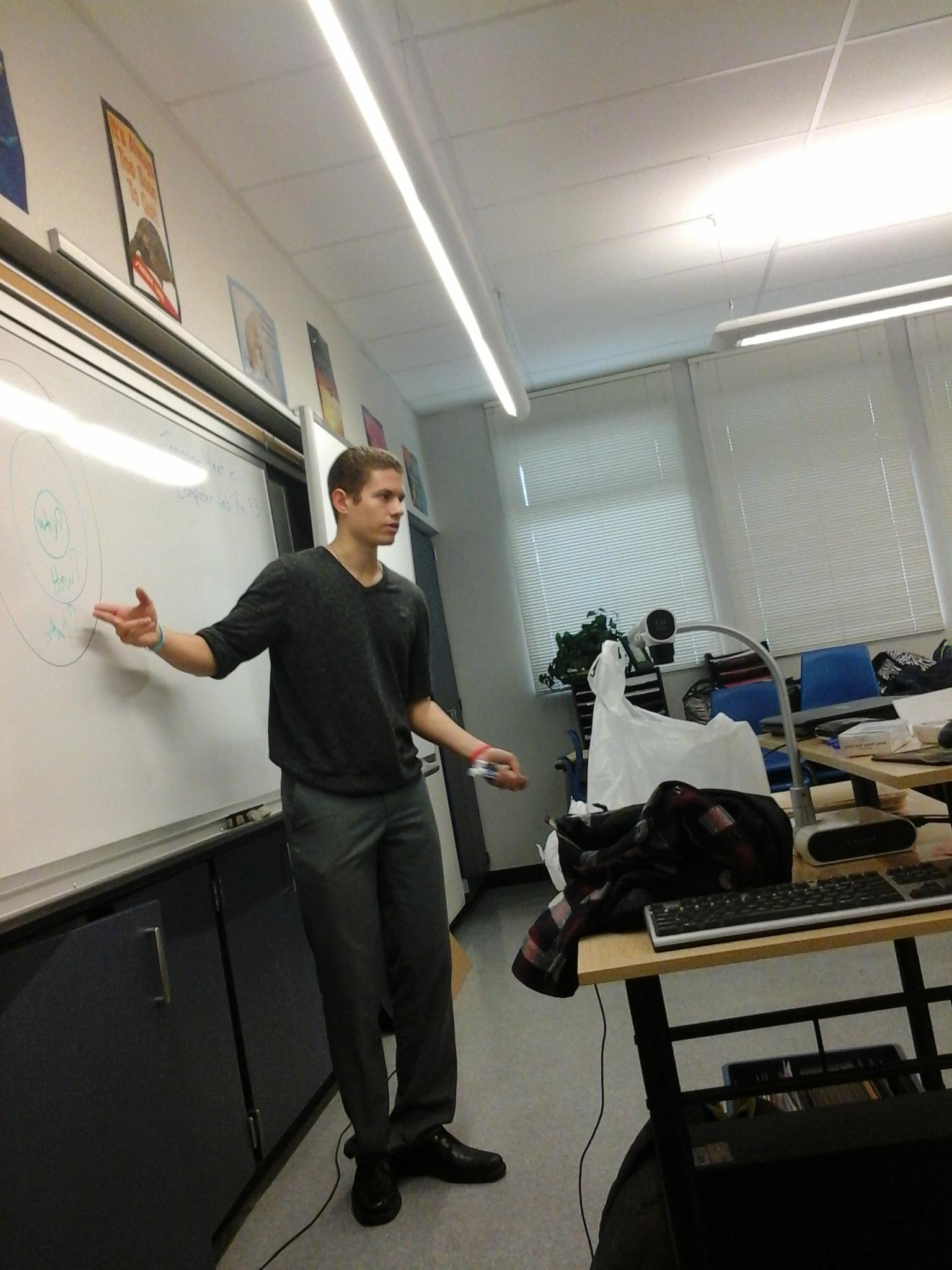 Alex Ferreira teaching at Anna McKenny