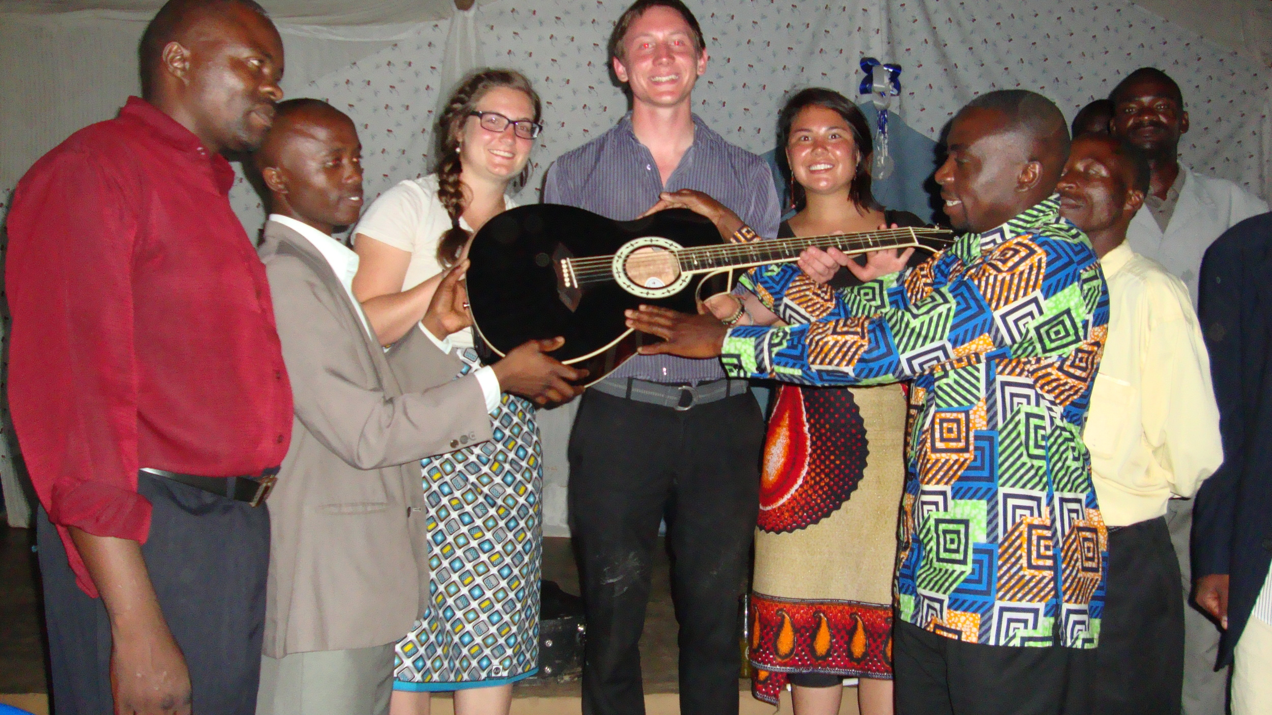 Proudly donating the guitar