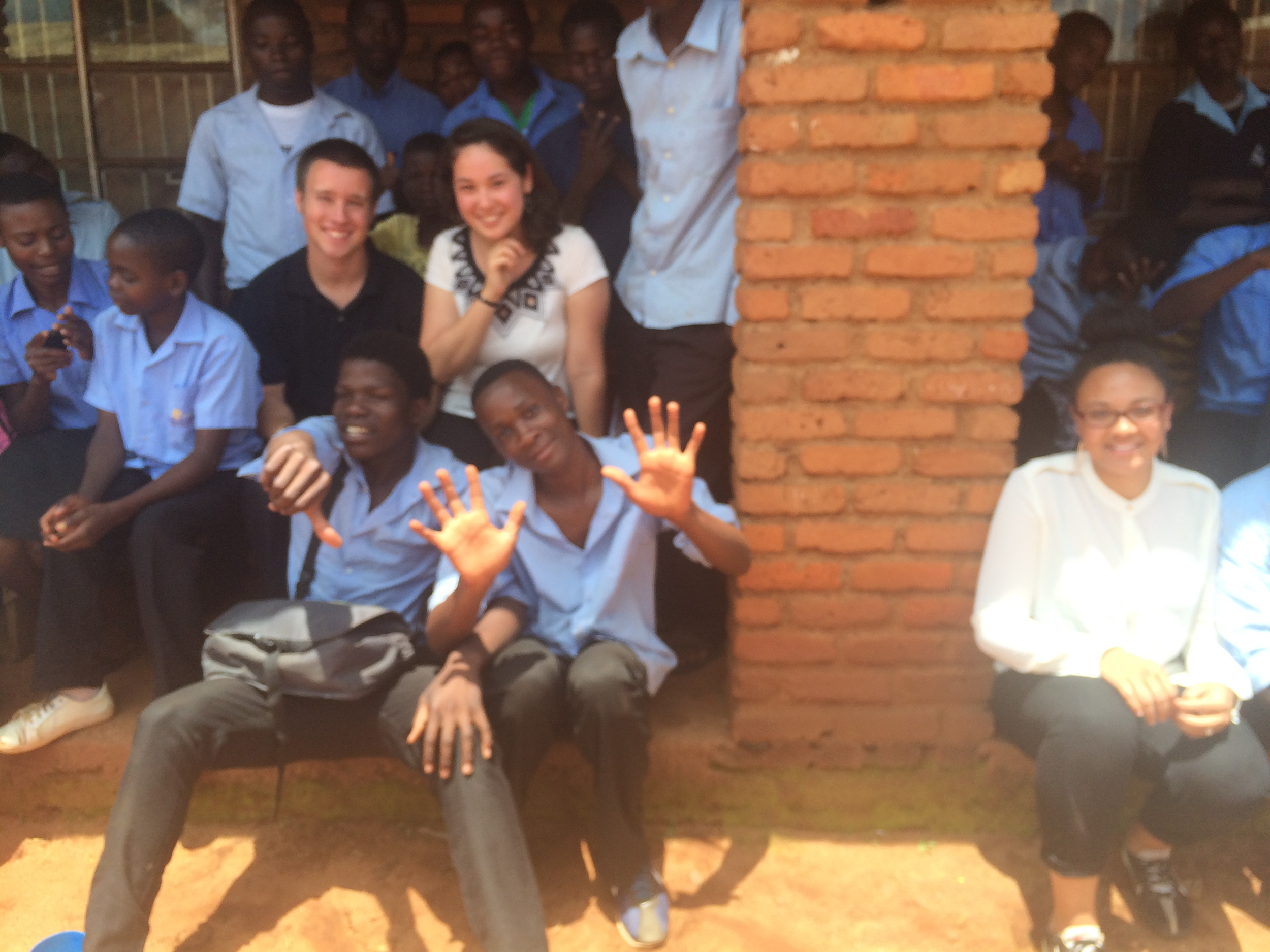 Amy, Austin and I with some of the students