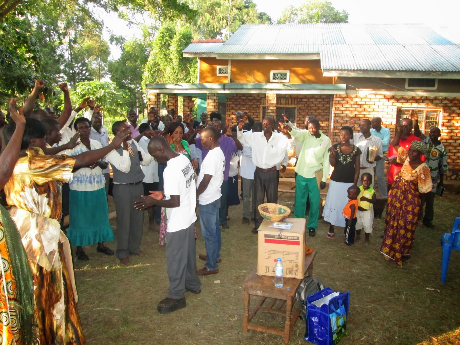 "closing prayer for ""Bibles for Uganda"""