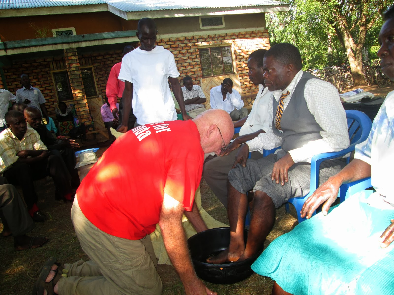 Organizing Pastor and two other village Pastors at FOOT WASHING