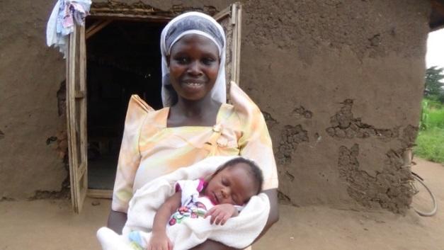 Birth Baby vanesa and her mom Margrate mayanja. 4.JPG
