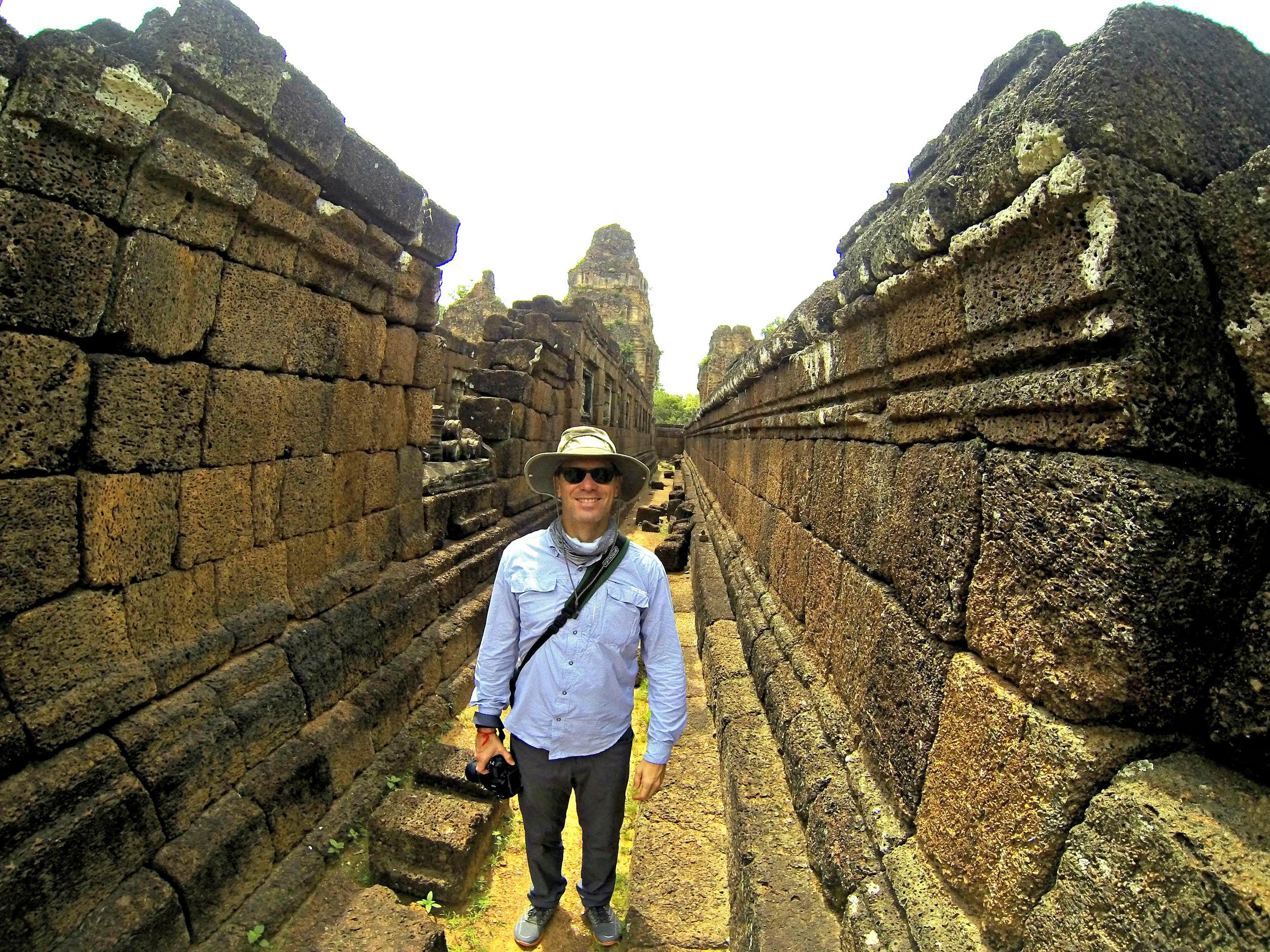 Pedestrian Photographer in Cambodia